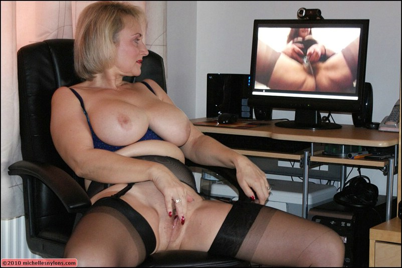 Caught masturbating watching porn Mature Moms TV
