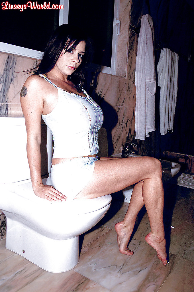 Busty brunette MILF Linsey Dawn McKenzie fantastic posing and toy porn in solo  1553983