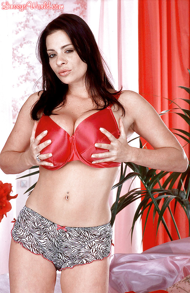 Hot MILF Linsey Dawn McKenzie releases her hooters as she strips to stockings № 1453305  скачать