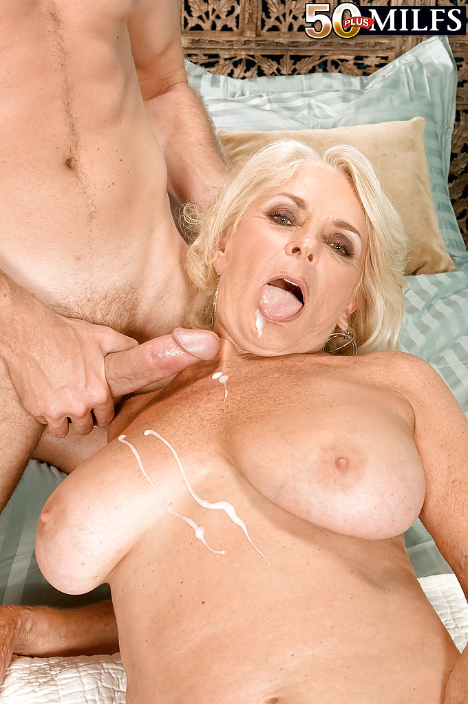 Excellent Mature busty cum on tits would
