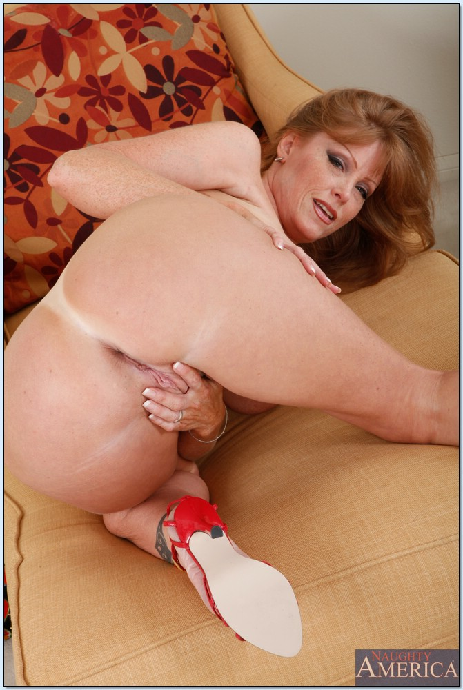 Busty mature redhead cougar spreads pity