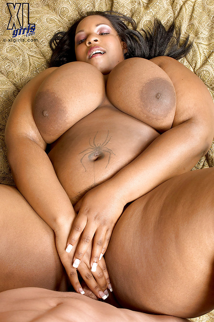 Fat black girl Crystal Clear revealing big tits and masturbating ...