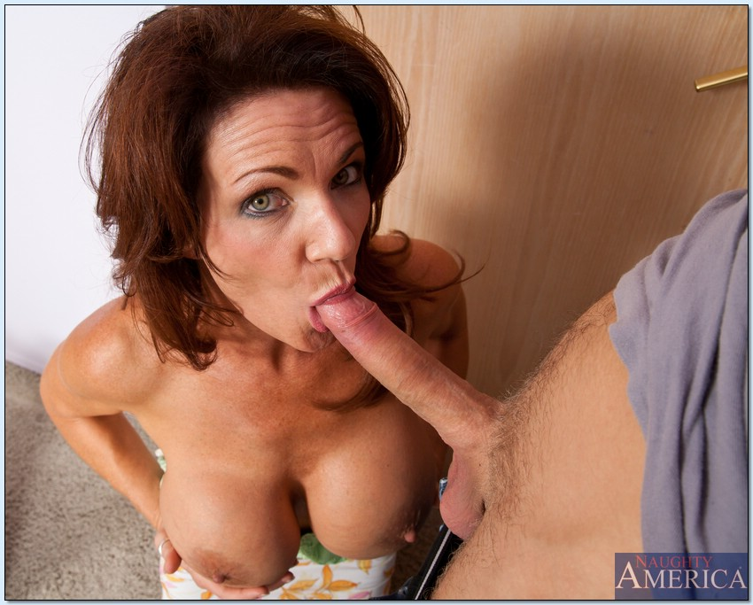 Mom with stript on dick