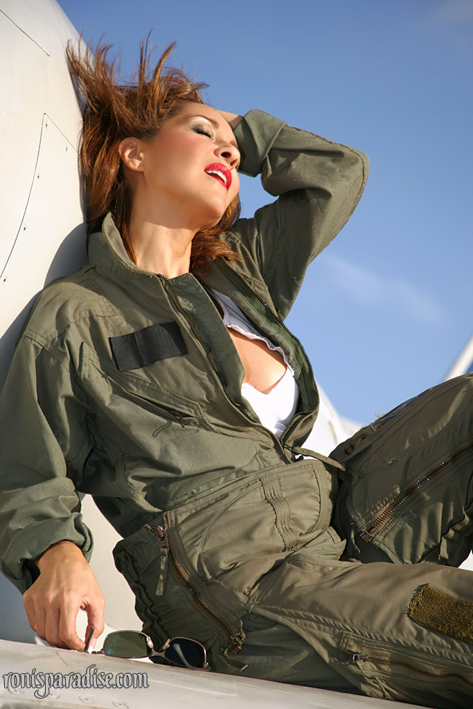When air force uniform pantyhose chance getting mouth