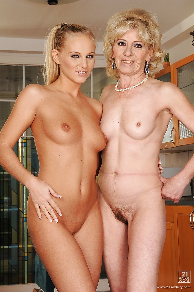 For the mom and teen daughter naked together