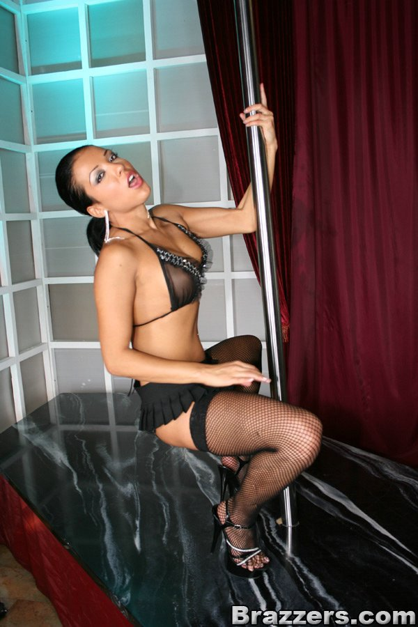 Naked latina strip pole