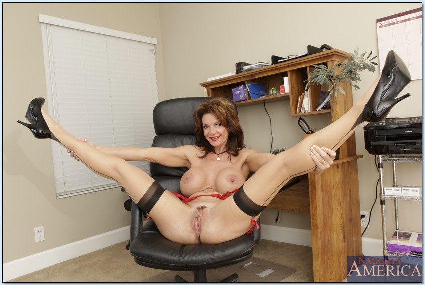 Hairy office mature