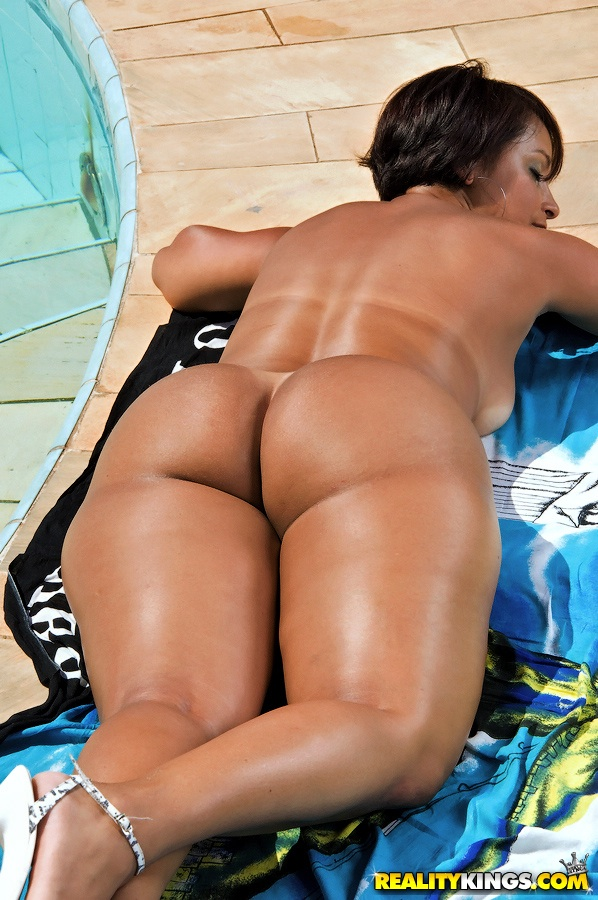 Fat ass thong tan lines