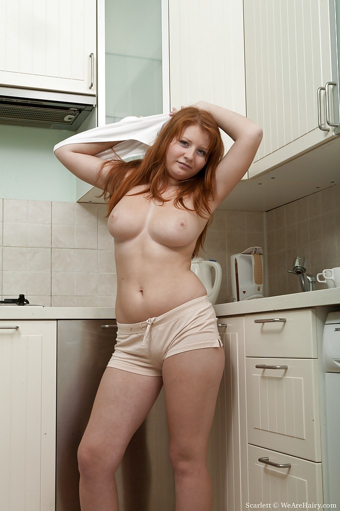 naturally hairy redhead girl