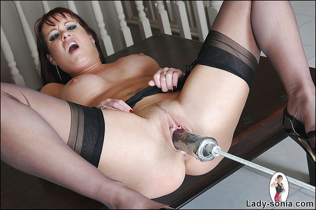 Brunette gets drilled on the sofa 2