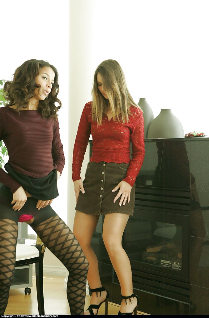 Adorable babes in nylon stockings slowly stripping off their clothes № 1359902 бесплатно
