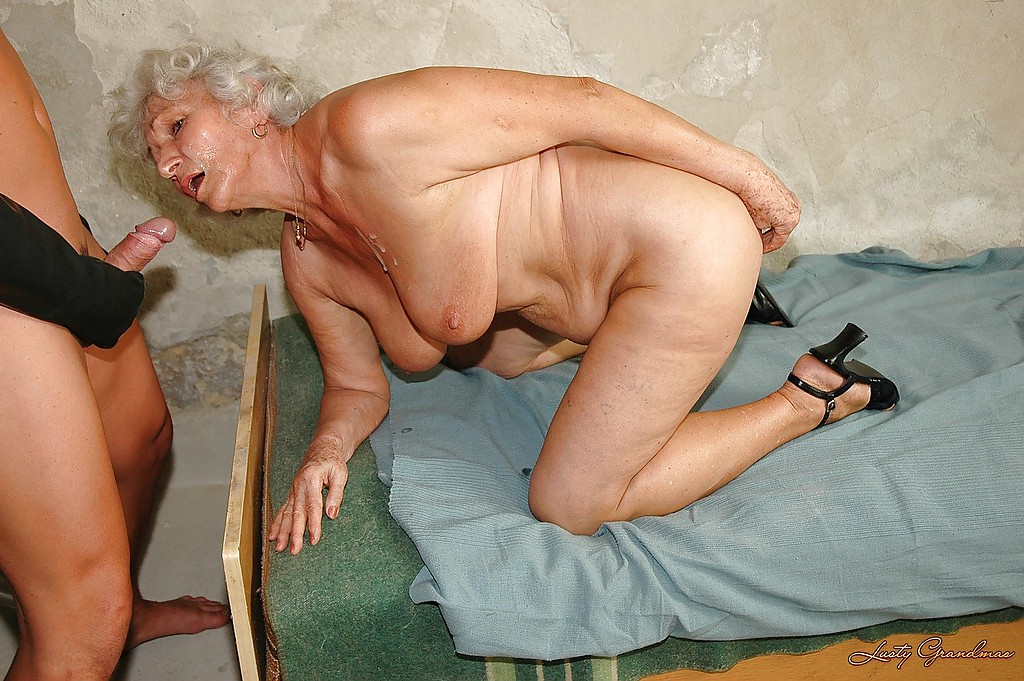 Chubby granny with big flabby tits is into hardcore BDSM ...