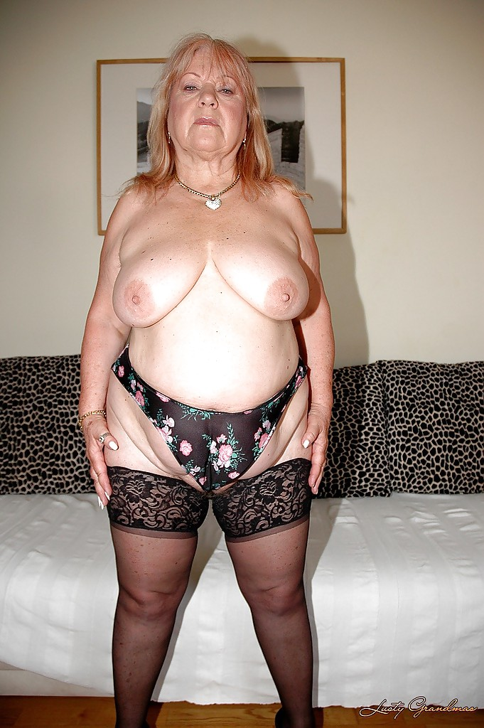 image Granny with big tits and hairy pussy rides cock