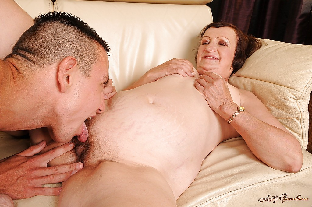 Fat hanging granny ass lick