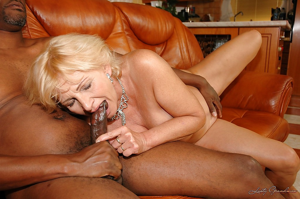 Grandma takes big black dick