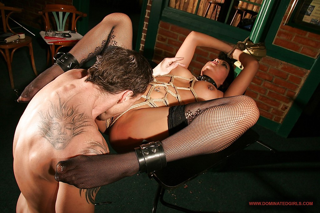 In seductive pantyhose getting