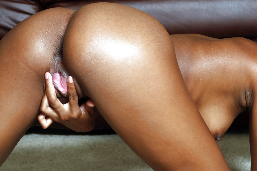 Black pussy lips spreaded