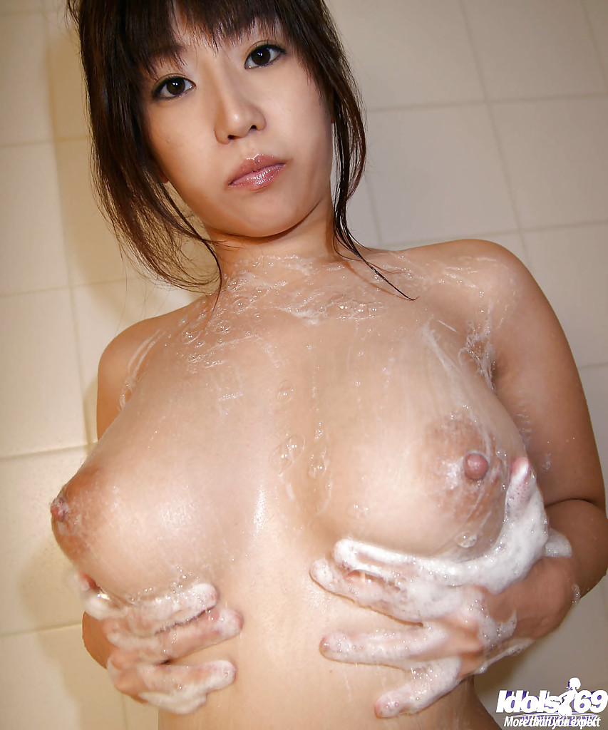 Japanese big tits shower