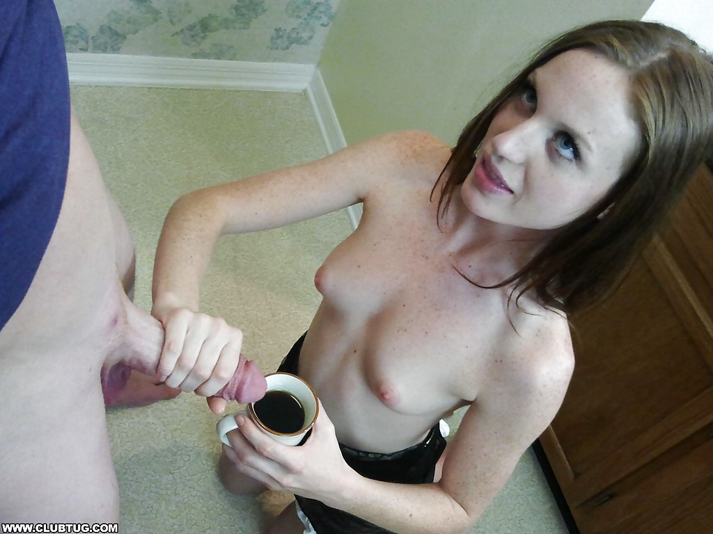 Teen maid and tiny dude fuck with big breasted mommy 8