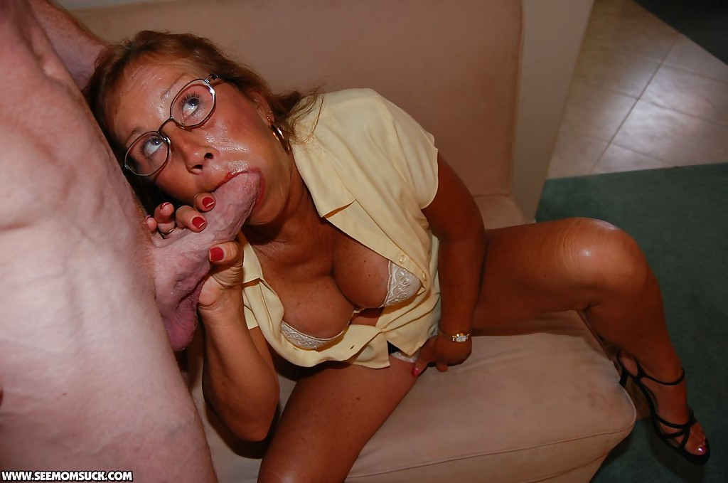 Sucking dick mom huge glasses