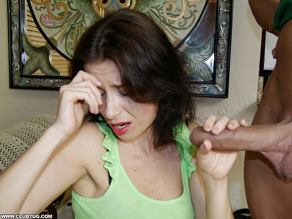 Mature handjob cum shot something