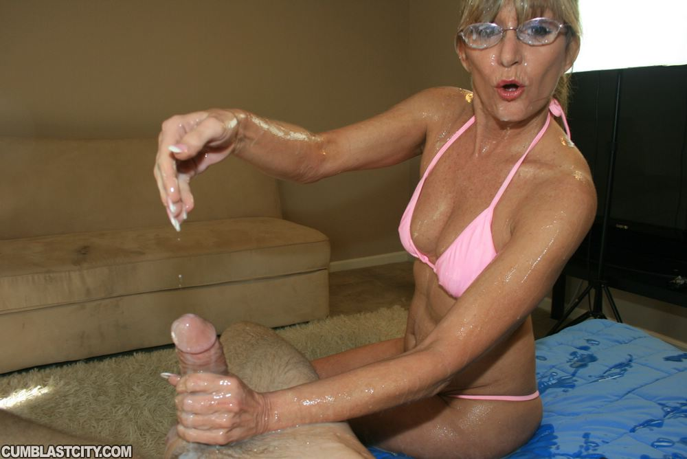 Accept. Mature handjob cum shot