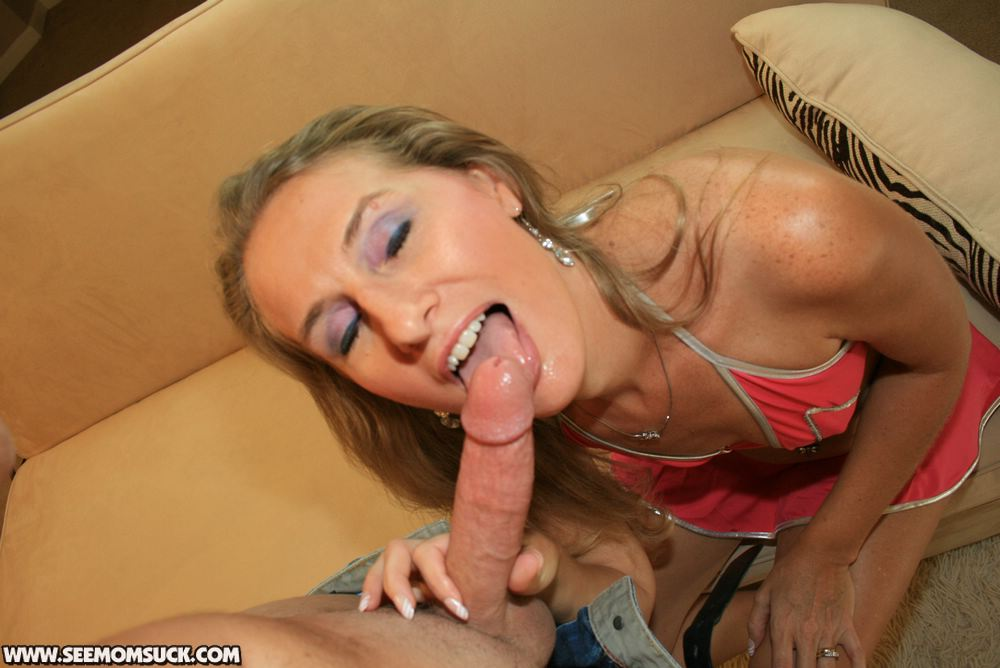 Mature blond gives head