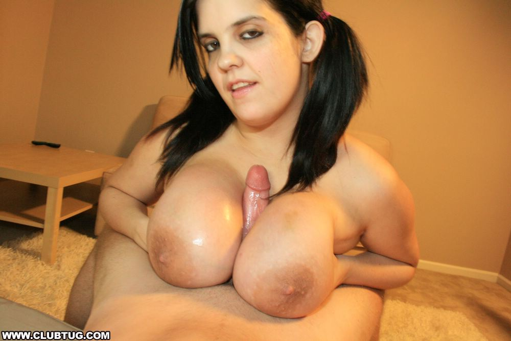 Giant boobs giving titjob