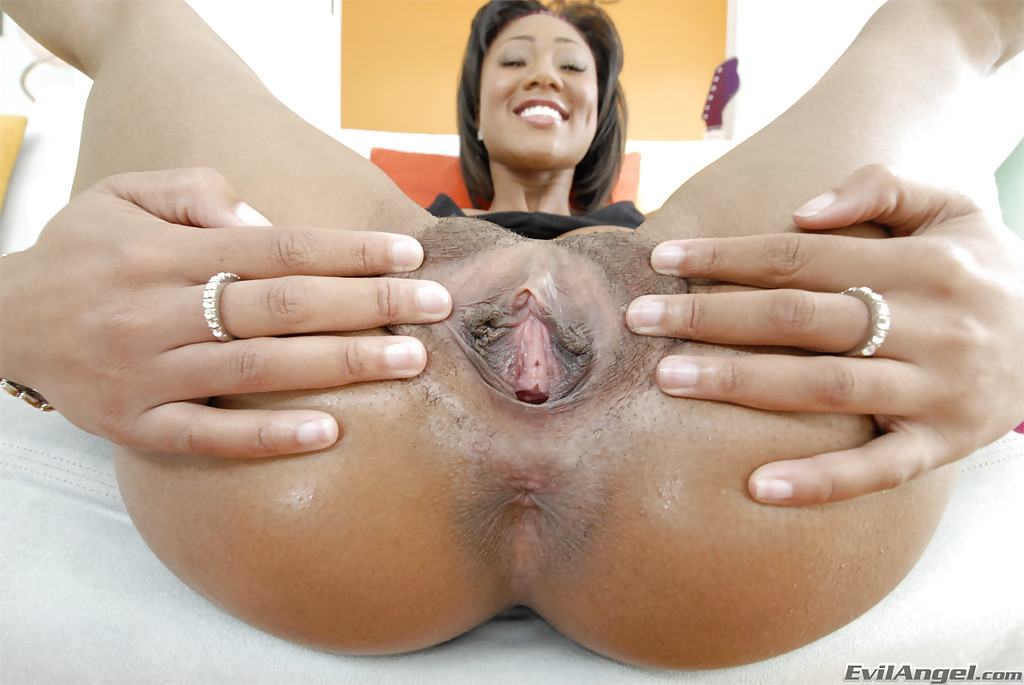 Ebony ass in panties