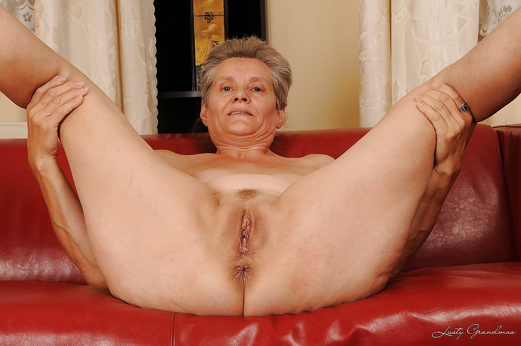 Granny spreads her legs