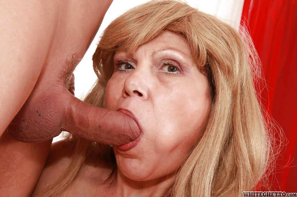 image Slutty blonde grandma gets turned on by dirty talk