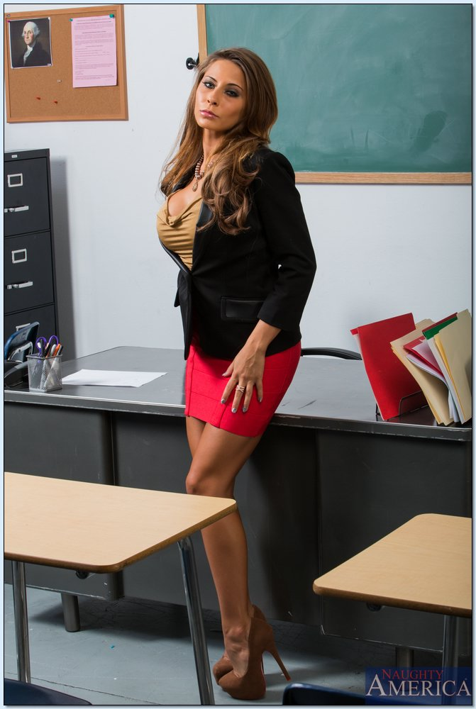Seductive teacher with big jugs Madison Ivy stripping in ...