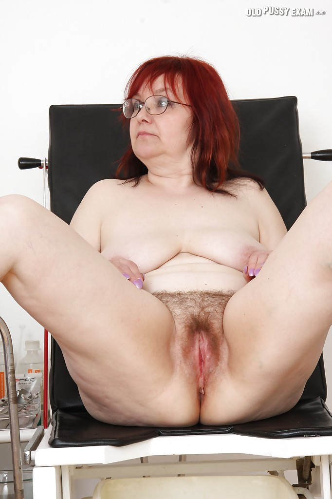 What mature hairy glasses brunette granny pity