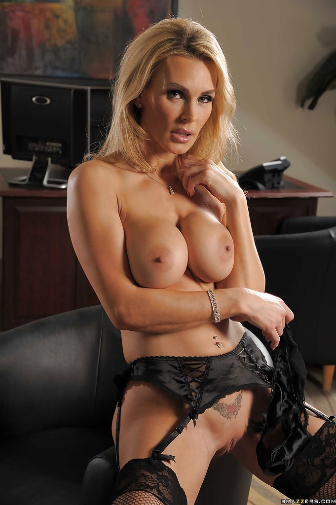 office blond milf