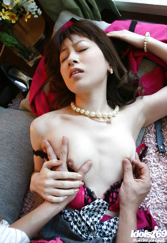 Asian lady shagged by two coworkers in her office 6