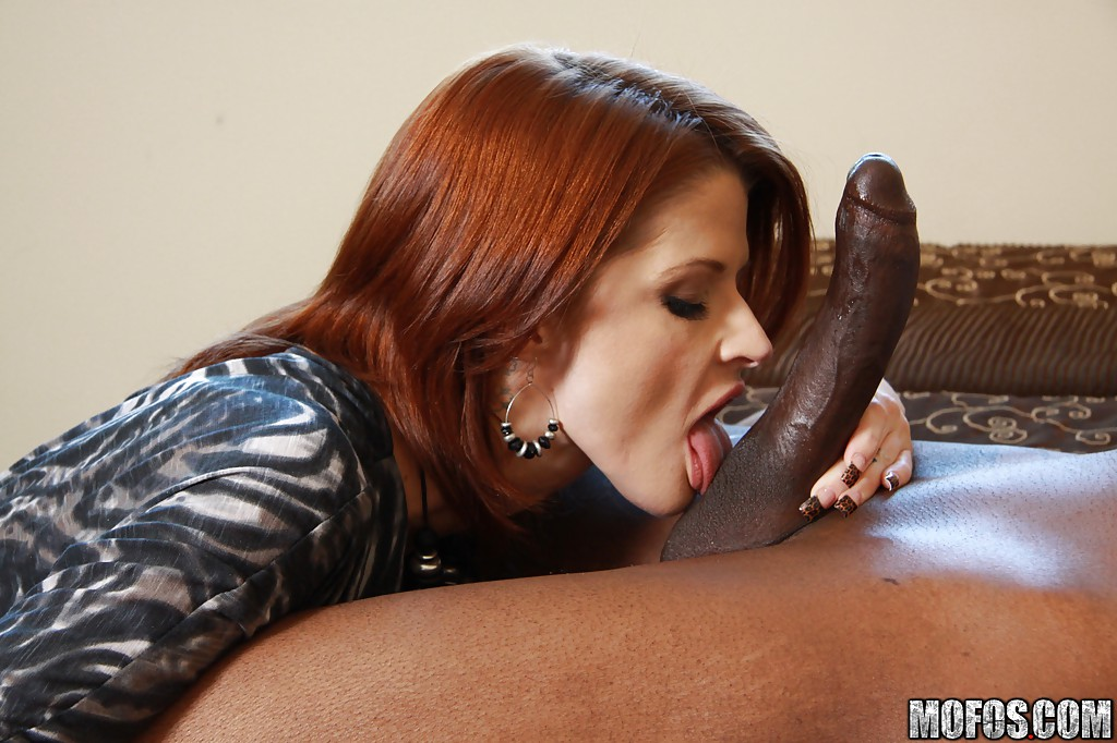Girl Black chubby redhead knows to coddle many