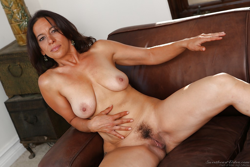 brunette mature stripping