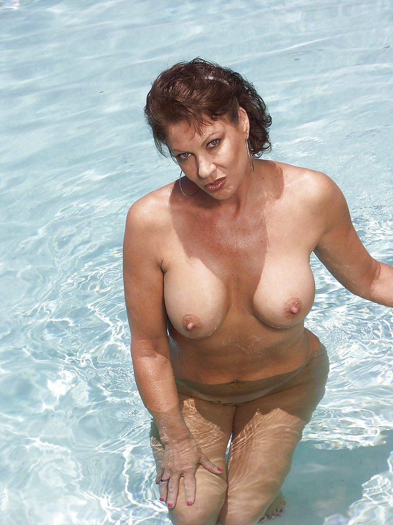 Mature poolside video