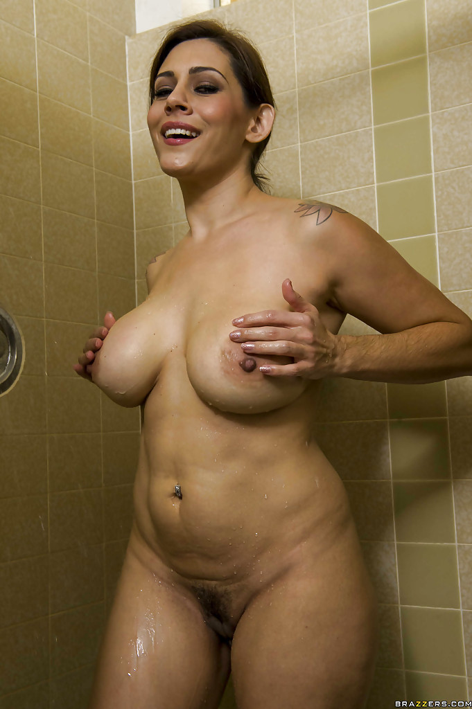 naked moms taking a shower