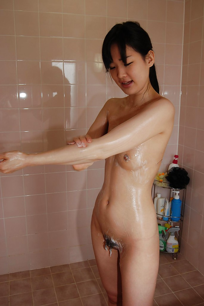 Girl playing in the shower