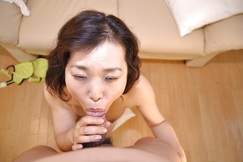 Mature asian cum in mouth