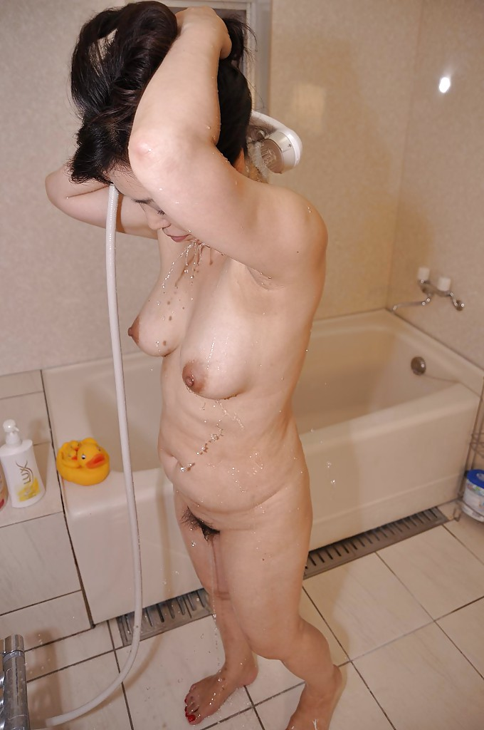 Chinese milf shower
