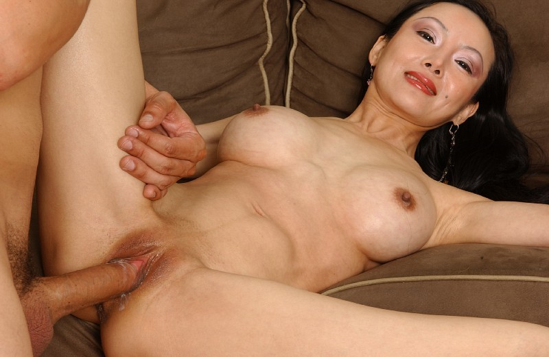 Juggy asian MILF Ange Venus gives head and gets her shaved ...