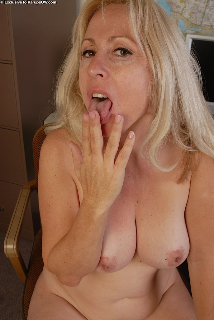 Remarkable, big tit blonde with cum all over