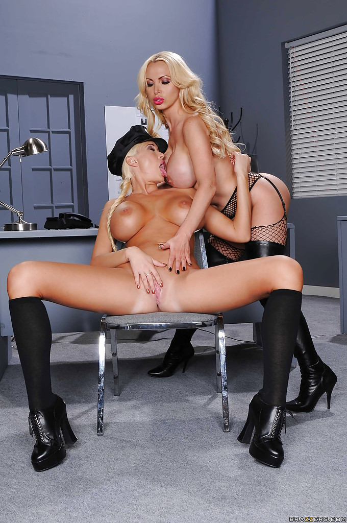 Fantastic hot blonde girl cop porn