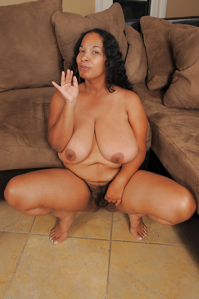 ebony tits hairy big bbw photo