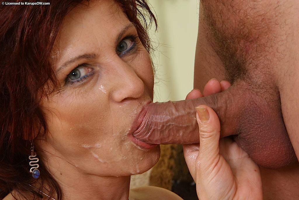 Awesome blowjob mature think