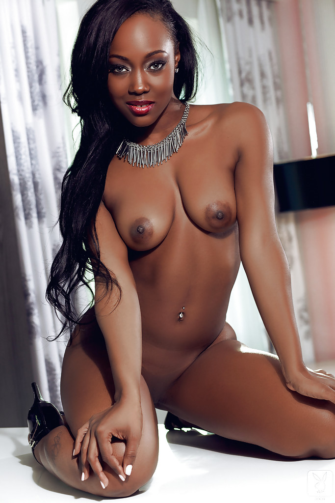 image Chocolate babe pussy tease and play with toys