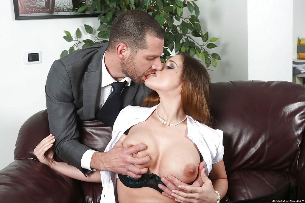 Girls kissing and fucking in office