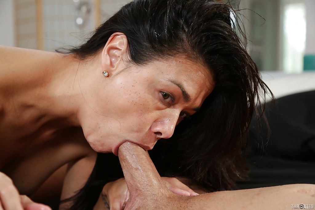 Asian wet blowjob